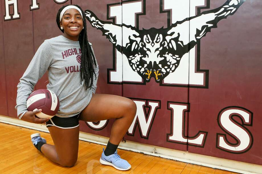 Highlands' Sarah Wilson in the school's gym on Wednesday, Aug. 2, 2017.  MARVIN PFEIFFER/ mpfeiffer@express-news.net Photo: Marvin Pfeiffer, Staff / San Antonio Express-News / Express-News 2017
