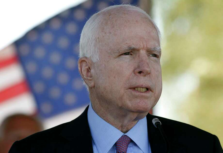 In this May 30, 2016, photo, Sen. John McCain, R-Ariz, speaks during a Phoenix Memorial Day Ceremony at the National Memorial Cemetery of Arizona in Phoenix. Photo: Ralph Freso, FRE / FR170363 AP