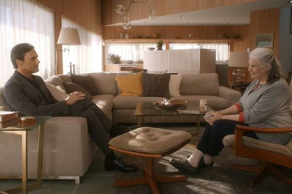 "Jon Hamm (left) and Lois Smith in Michael Almereyda's ""Marjorie Prime."""