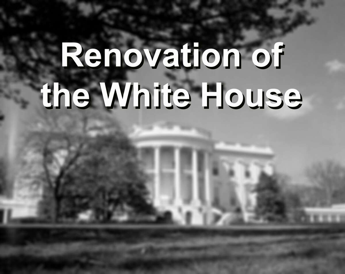 """MAJOR PROJECT The last major reworking of 1600 Pennsylvania Ave. was the """"Truman Reconstruction,"""" a comprehensive rebuilding of the interior between 1949 and 1952."""