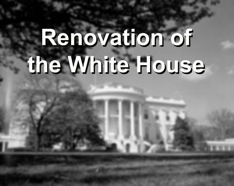 """MAJOR PROJECTThe last major reworking of 1600 Pennsylvania Ave. was the """"Truman Reconstruction,"""" a comprehensive rebuilding of the interior between 1949 and 1952. Photo: Bettmann/Bettmann Archive"""