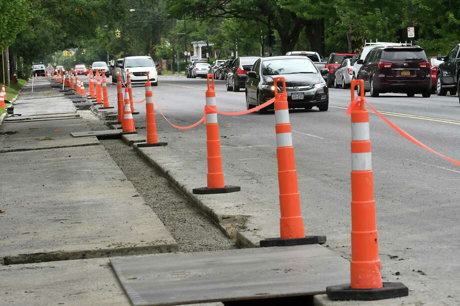 Construction begins of phase two of the Madison Avenue Street Calming Complete Street Project on Monday, Aug. 7, 2017 in Albany, N.Y. (Lori Van Buren / Times Union) Photo: Lori Van Buren / 20041227A