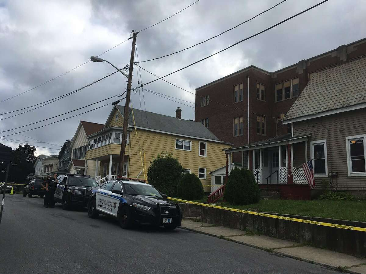 Mechanicville police were investigating the death of a man who was found in the driveway of a home on Grove Street on Tuesday, Aug. 8, 2017.