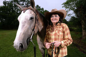 A competitive barrel racer for more than 60 years, Linda Shackelford, 70, is one of a small, but growing, group of seniors refusing to hang up the reins. Shackelford is currently sidelined from the sport due to an injury, but plans to return to competition later this year.   Photo taken Thursday, July 13, 2017 Guiseppe Barranco/The Enterprise