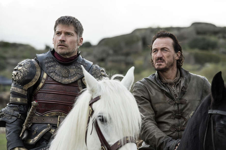 Nikolaj Coster Waldau as Jaime Lannister and Jerome Flynn as Bronn in HBO's