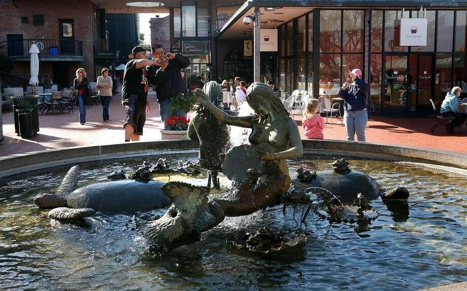 """Andrea's fountain,"" created by Ruth Asawa nearly 50 years ago Photo: KIM KOMENICH, SFC"