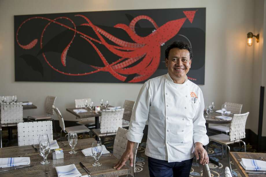 Chef Hugo Ortega stands in Caracol, the largest of his five restaurants, in Houston. He got his start in the business as a dishwasher.photo for The Washington Post by Scott Dalton. Photo: Scott Dalton /For The Washington Post
