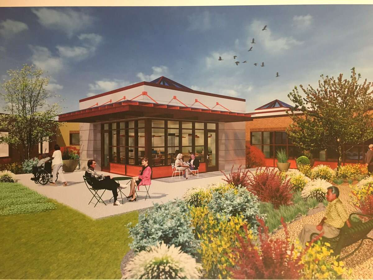County officials on Tuesday, Aug. 9, 2017, unveiled renderings of updates planned for the Albany County Nursing Home. (Will Waldron/Times Union)