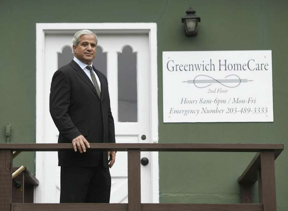 Owner Paul Horowitz poses outside his new business Greenwich Home Care located in downtown Greenwich, Conn. Thursday, Sept. 29, 2016. Horowitz began his company using techniques he found useful when taking care of his wife with cancer. Photo: Tyler Sizemore / Hearst Connecticut Media / Greenwich Time