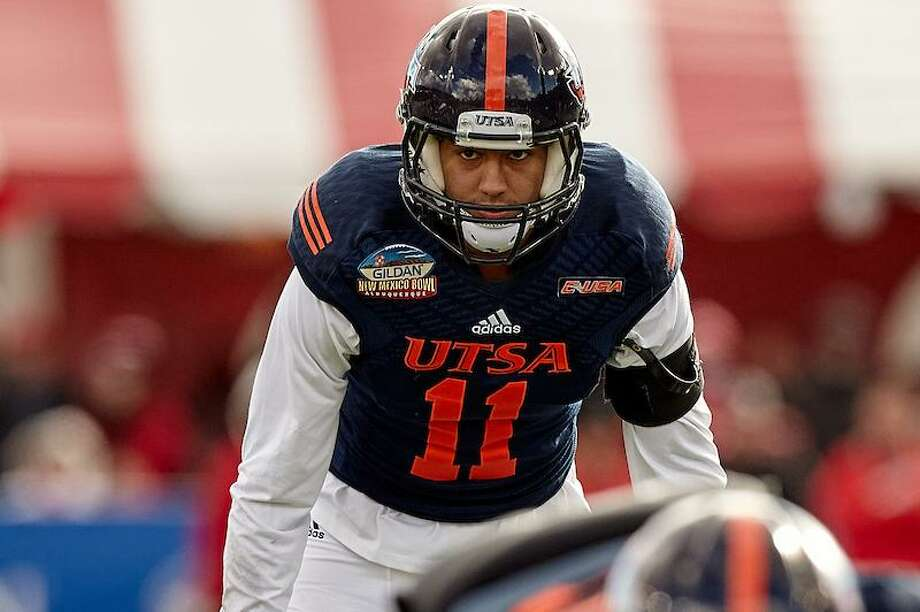 Nate Gaines was UTSA's fourth-leading tackler last season with 80, and his 47 solo stops ranked second, but he pulled down only one interception. . He and the Roadrunners are hope to force more turnovers. Photo: Jeff Huehn / UTSA Athletics / ©2016 Jeff Huehn