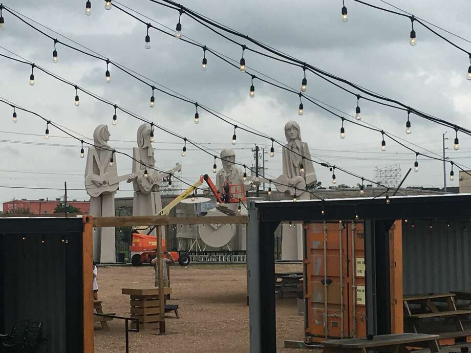 Four concrete lads from Liverpool are currently standing in the backyard of one of Houston's most popular breweries. This week 8th Wonder Brewery took custody, albeit temporary, of renowned artist David Adickes' famous Beatles statues that once stood outside his SculpturWorx workshop off Taylor and I-10. Adickes tells Chron.com that the set is for sale for $350,000.Click through to see more photos of Adickes' famous art around Houston and Texas... Photo: Ryan Soroka / Eighth Wonder Brewery