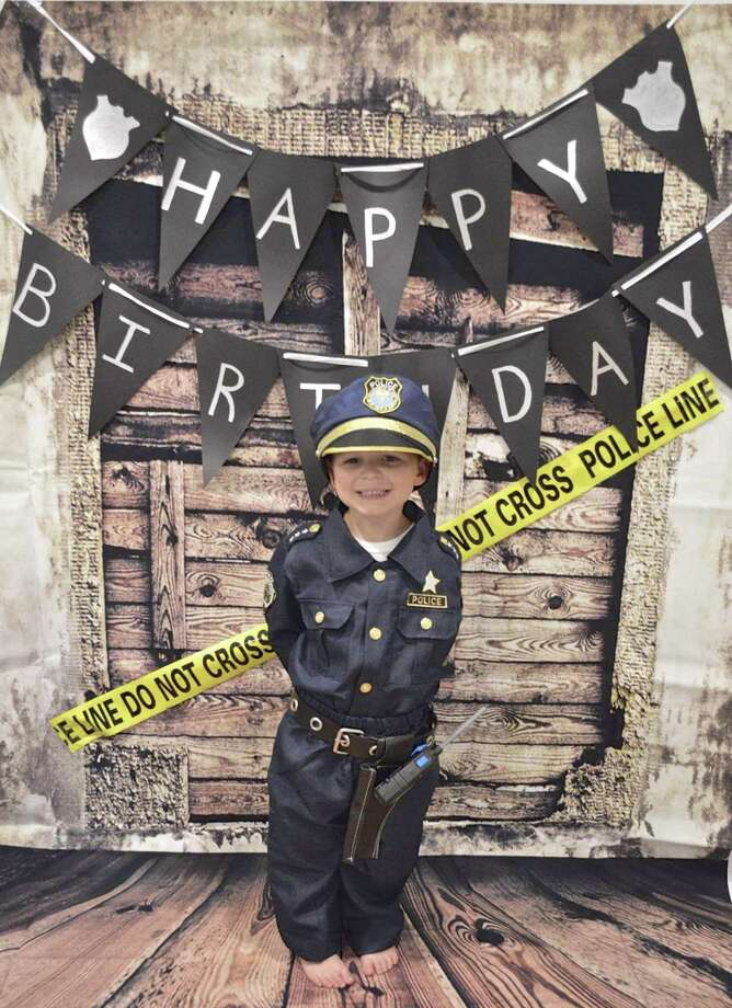 Oliver Wyatt at his police-themed birthday party in Bethel. Photo: Contributed Photo / The News-Times / The News-Times Contributed