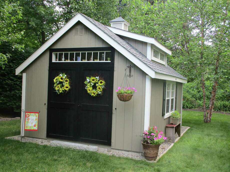 "The ""Pottage,"" Debbie Lisee's she shed in Bloomfield. Photo: Kloter Farms / Contributed Photo"