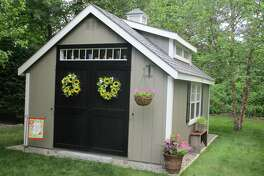 "The ""Pottage,"" Debbie Lisee's she shed in Bloomfield."