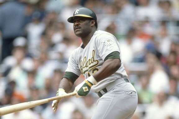 NEW YORK - CIRCA 1988: Don Baylor #12 of the Oakland Athletics bats against the New York Yankees during an MLB baseball game circa 1988 at Yankee Stadium in the Bronx borough of New York City. Baylor played for the Athletics in 1988. (Photo by Focus on Sport/Getty Images)