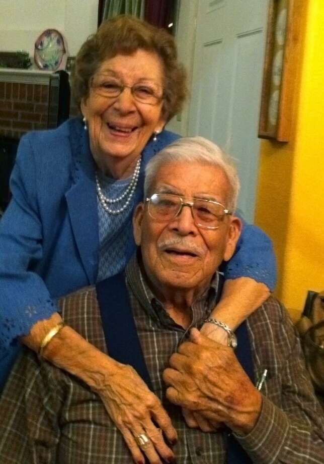 Enrique Guerrero died Aug. 3, less than a month after celebrating his 101st birthday. Guerrero is shown with his wife, Elena Diaz Guerrero, in this 2012 photo. Photo: Courtesy Photo