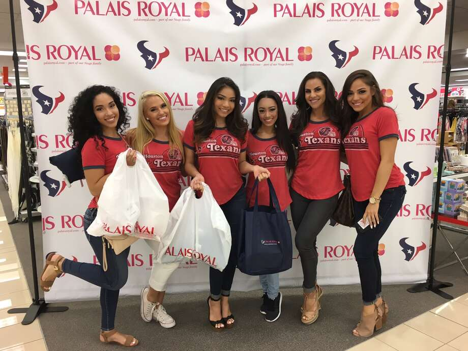 Palais Royal's Cheer PartyHouston Texans cheerleaders celebrated at Palais Royal's first ever Cheer Party. The private event showcased the retail store's Texans gear.Click through above to see photos of the Texans cheerleaders at Palais Royal's Cheer Party. Photo: Houston Texans/Palais Royal