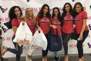 Houston Texans cheerleaders celebrated at Palais Royal's first ever Cheer Party. The private event showcased the retail store's Texans gear.