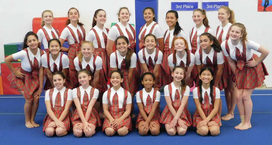 Twenty-three members of the Westport Weston Family Y Showtime Exhibition gymnastic team traveled to Cincinnati from June 28- July 1 to compete and win gold at the USA Gymnastics for All National Championships & Gymfest. Photo: Contributed Photo