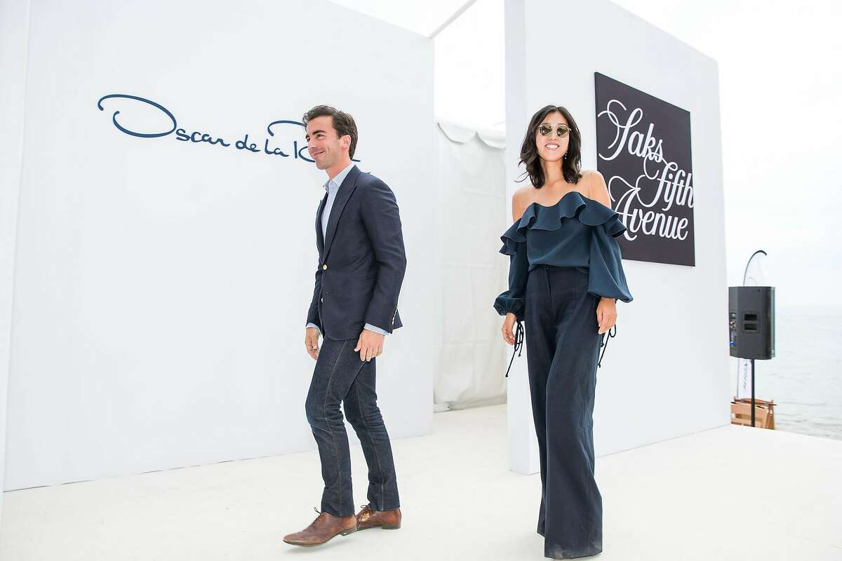 Laura Kim and Fernado Garcia are the designers at Oscar de la Renta, seen here at the League to Save Lake Tahoe's 48th fashion show fundraiser at Incline Village, Nev.
