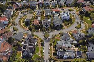 Overhead view of Presidio Terrace, the private street that was sold in a tax auction to a San Jose couple even as homeowners were in the dark.