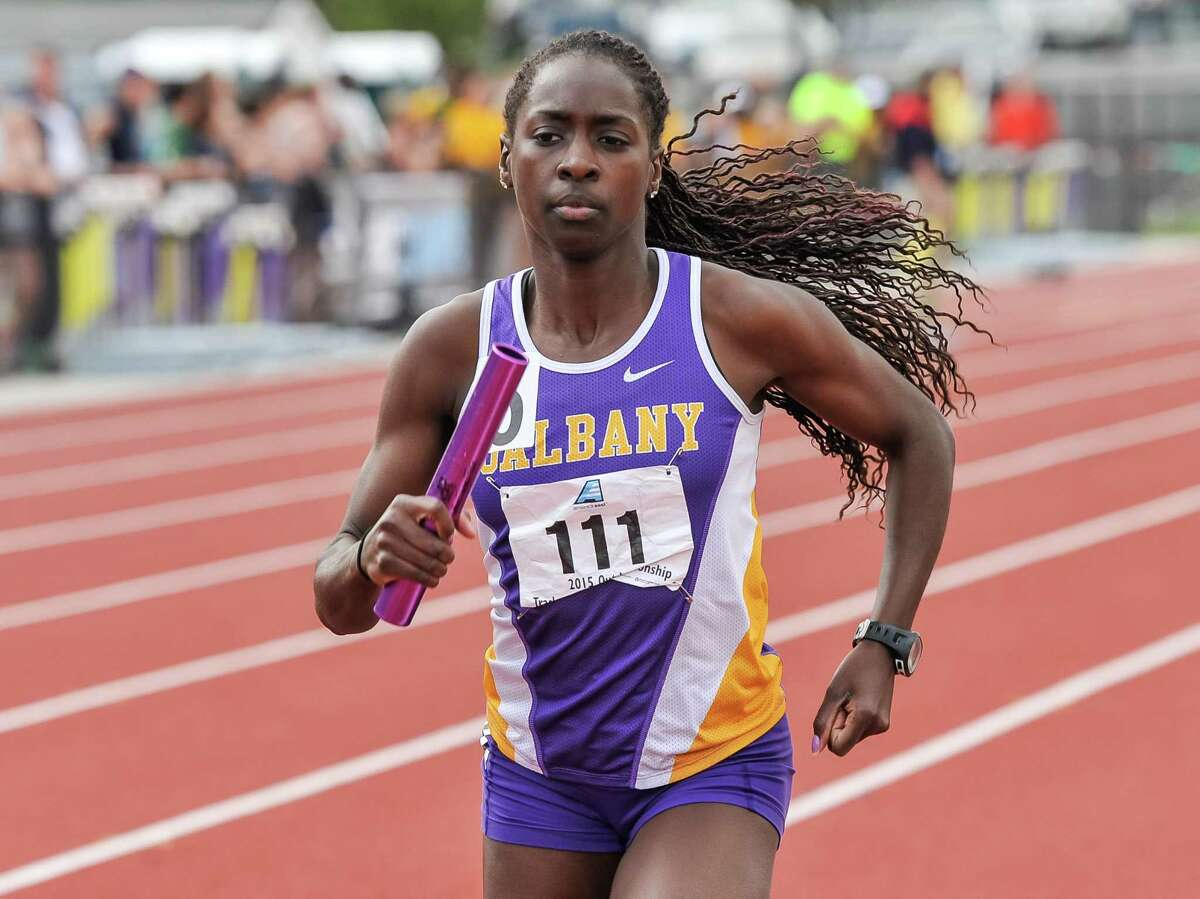 Former UAlbany standout Grace Claxton said she thinks everything will work out with her hamstring injury and she will get to compete in her second Olympics. (Bill Ziskin / University at Albany)