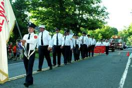 One of the highlights of opening day at the Bridgewater Country Fair is the firemen's parade.