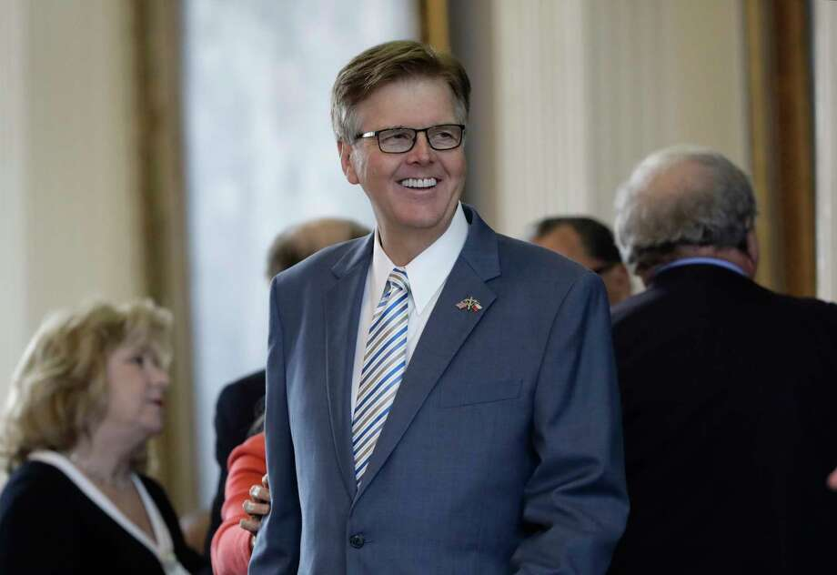 Lt. Gov. Dan Patrick presides over the Texas Senate on the second day of a special session ordered by Republican Gov. Greg Abbott, in Austin, Texas, Wednesday, July 19, 2017. Conservatives in the state Senate are swiftly advancing sunset legislation, a regulatory bill that must pass before the legislature can work on anti-abortion measures, school vouchers and defanging local ordinances in Texas' big and liberal cities. (AP Photo/Eric Gay) Photo: Eric Gay, STF / Copyright 2017 The Associated Press. All rights reserved.