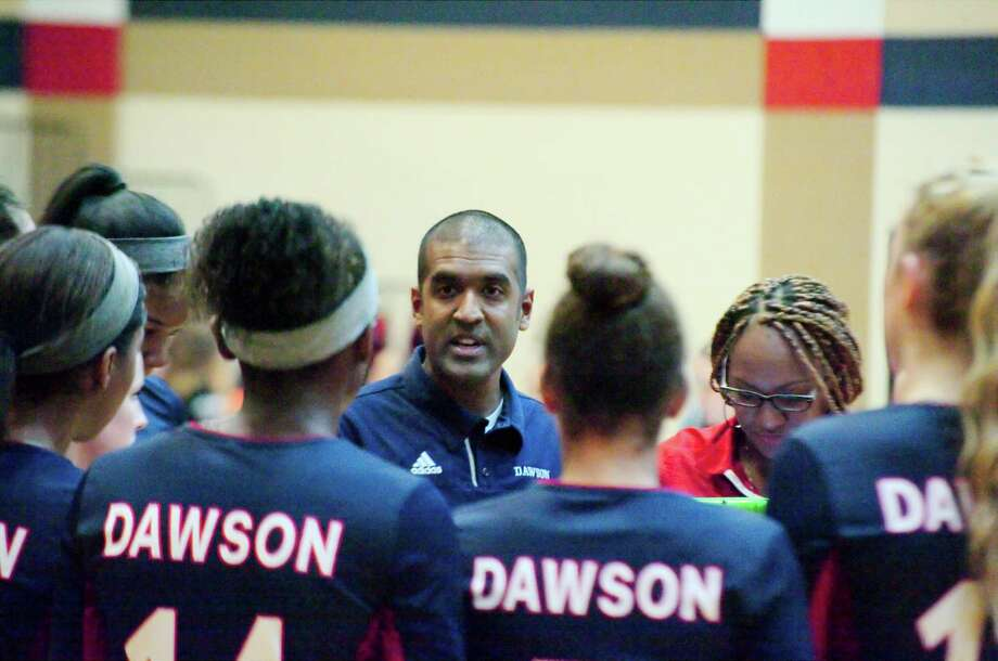 Dawson volleyball coach Jason Karim watched his team shake off some rustiness in a straight-set win Wednesday night over Deer Park. Photo: Kirk Sides / © 2017 Kirk Sides / Houston Chronicle