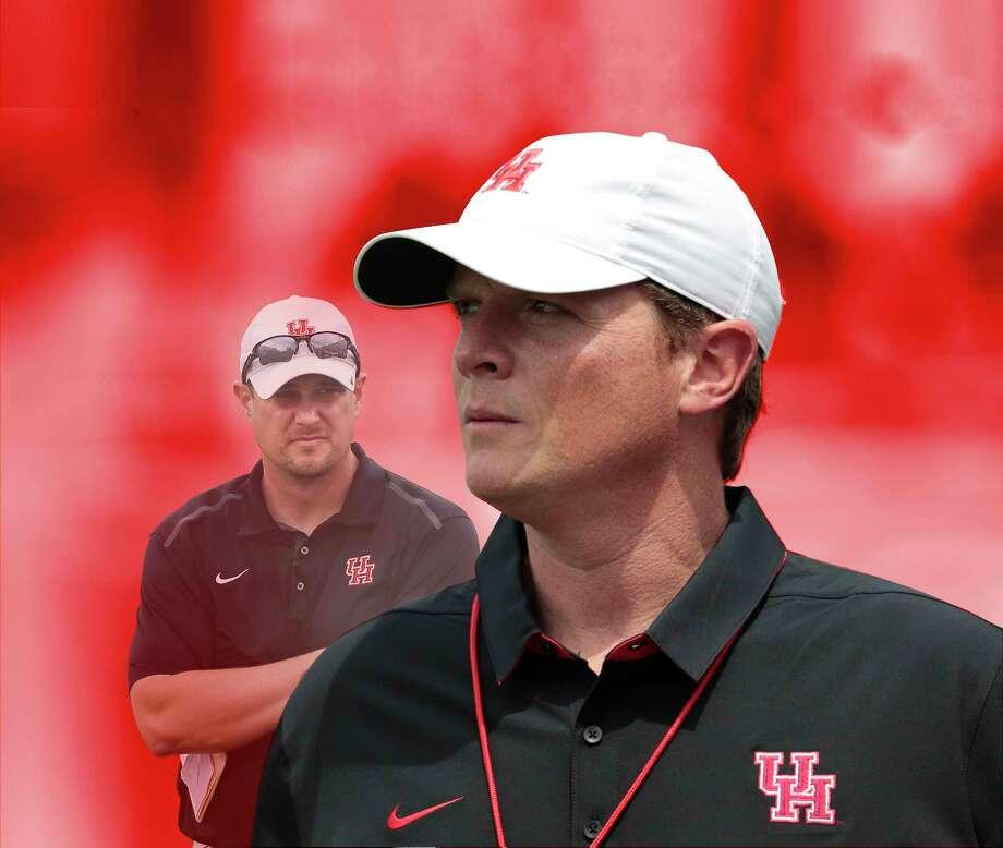 Houston head coach Major Applewhite watches his team play during the University of Houston Red-White Game at TDECU Stadium on Saturday, April 15, 2017, in Houston. ( Brett Coomer / Houston Chronicle ) Photo: Brett Coomer, Staff / © 2017 Houston Chronicle