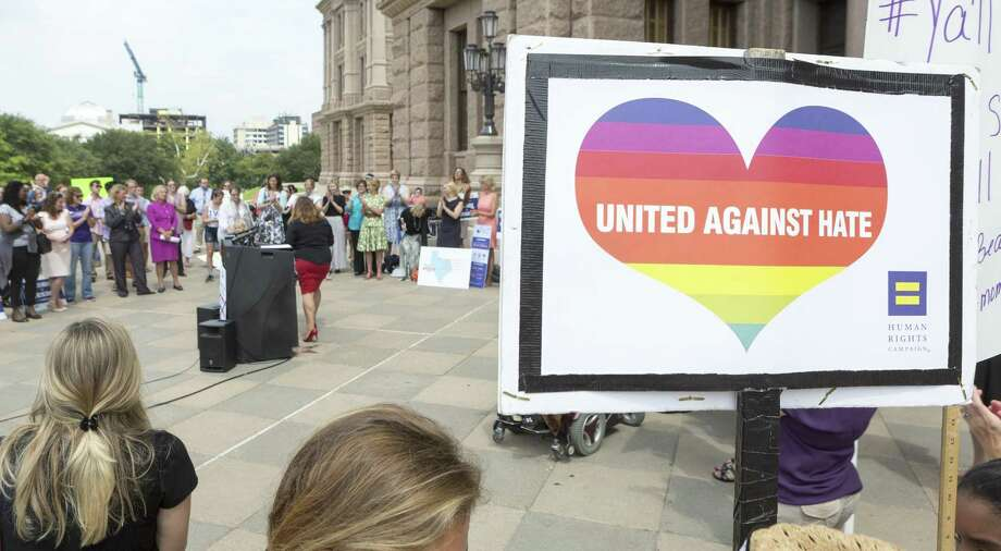 """Events such as this — a """"Keep Texas Open for Business"""" event at the Texas Capitol in in 2017 — helped beat back a bathroom bill in the Legislature. Photo: Stephen Spillman /Stephen Spillman / stephenspillman@me.com Stephen Spillman"""