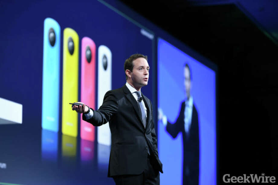 Spencer Rascoff speaks at the 2016 Zillow Premier Agent Forum Photo: Kevin Lisota/GeekWIre