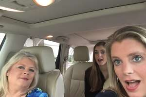 """Marcy Johnson is a passenger as her daughter, Jodi Rutledge, drives and her granddaughter, Macy Rutledge sits in the back seat. GoPro cameras filmed them in their car as they drove from one property to another during filming of an episode of HGTV's """"Beachfront Bargain Hunt."""""""