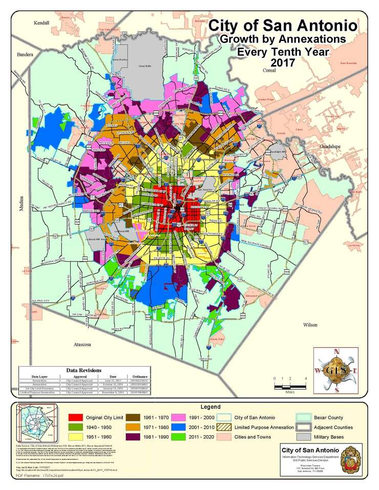 City Of San Antonio Zoning Map Annexation in Texas: What you need to know   ExpressNews.com