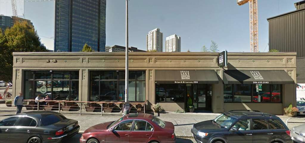 2115 Westlake Avenue in South Lake Union, where Shake Shack will open its first Seattle location in mid-2018. Photo: Google Street View