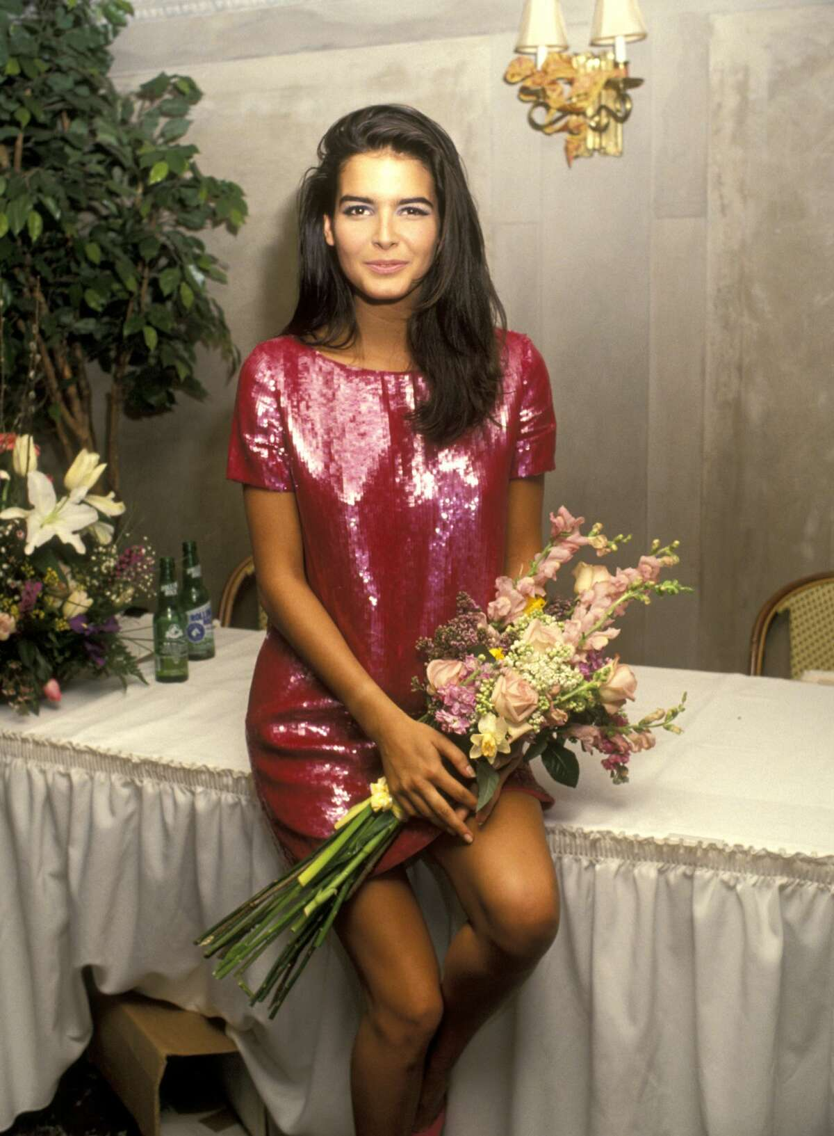 1991: Angie Harmon during Press Conference for Winner of Spectrum 1991 Fresh Faces Model Search at Laura Belle's in New York, New York, United States.