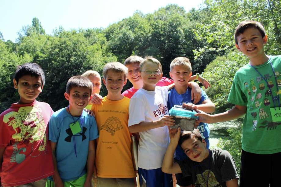"""""""The Worm Hunters"""" at Woodcock Nature Center's Summer Camp in Wilton on Wednesday, Aug. 9, 2017. Photo: Stephanie Kim / Hearst Connecticut Media"""