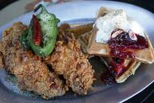 A chicken and waffles has been a popular part of the Sunday brunch at Tucker's Kozy Korner.
