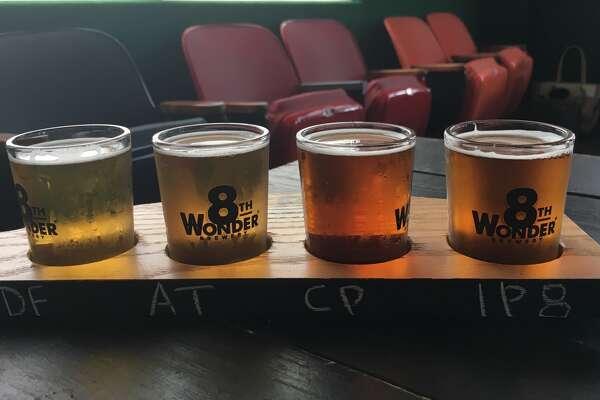 A flight of 8th Wonder beers in Houston, August 2017. (Ronnie Crocker / Beer, TX)