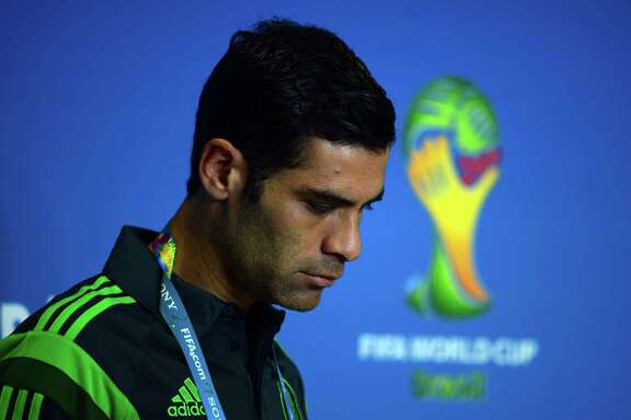 "(FILES) This file photo taken on June 12, 2014 shows Mexico's defender Rafael Marquez arriving for a press conference at the Las Dunas stadium in Natal, Brazil, prior to the 2014 FIFA Football World Cup.   The US Treasury on August 9, 2017 accused Rafael Marquez, captain of Mexico's national football team and a former FC Barcelona player, of being a ""front person"" for a major drug trafficking organization. Marquez was one of 22 people and 43 entities the US Treasury placed on a sanctions list in relation to a Guadalajara-based drug trafficking cartel controlled by one Raul Flores Hernandez.  / AFP PHOTO / YURI CORTEZYURI CORTEZ/AFP/Getty Images"