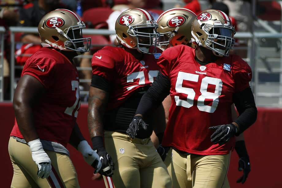 The 49ers released center Jeremy Zuttah on Wednesday. Photo: Santiago Mejia, The Chronicle