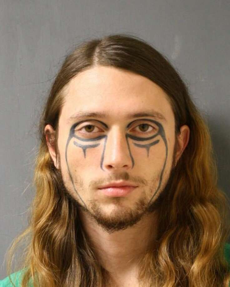 A man with unique face tattoos was arrested Wednesday after robbing a Harris County Walgreens Pharmacy in the 15100 block of Mason Road. Photo: Harris County Precinct 4 Constable's Office