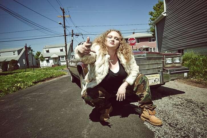 "Danielle Macdonald in ""Patti Cake$"" (the dollar sign is cq)"