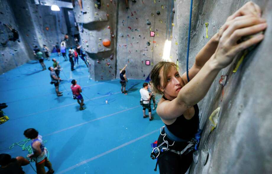 Climbing has made up for everything I gave up, or lost, when I moved to Houston from Colorado. Photo: Michael Ciaglo, Houston Chronicle / Michael Ciaglo