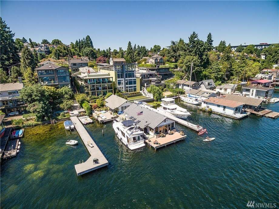 This property in Portage Bay is listed for $4.995 million. Originally built by the Fuhrman family, for which the street is named, and later owned by Ivar Haglund, the compound features six residences and four additional structures. You can see the full listing here. Photo: Photos By VHT, Photos By VHT/Listing Courtesy Kyle Rose And Gary Everist, Windermere RE Greenwood