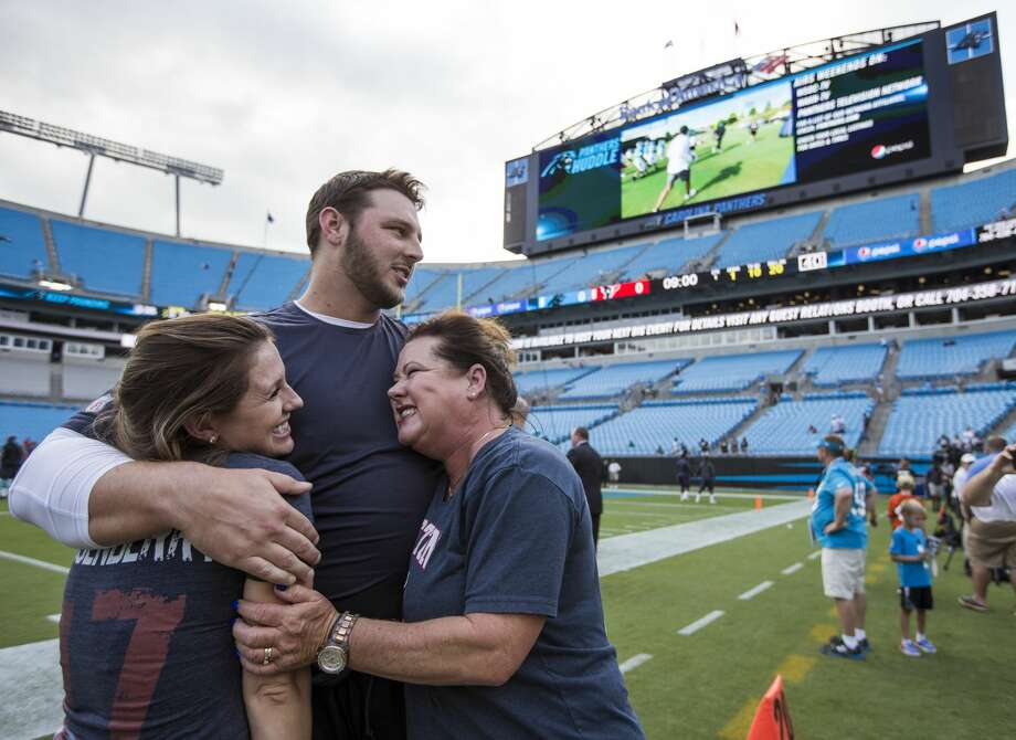David Quessenberry has been cut by the Texans. He is a cancer survivor who bravely battled his way back onto the field, playing for the Texans this preseason.Browse through the photos to see a projection of the Texans' roster for the upcoming season. Photo: Brett Coomer/Houston Chronicle