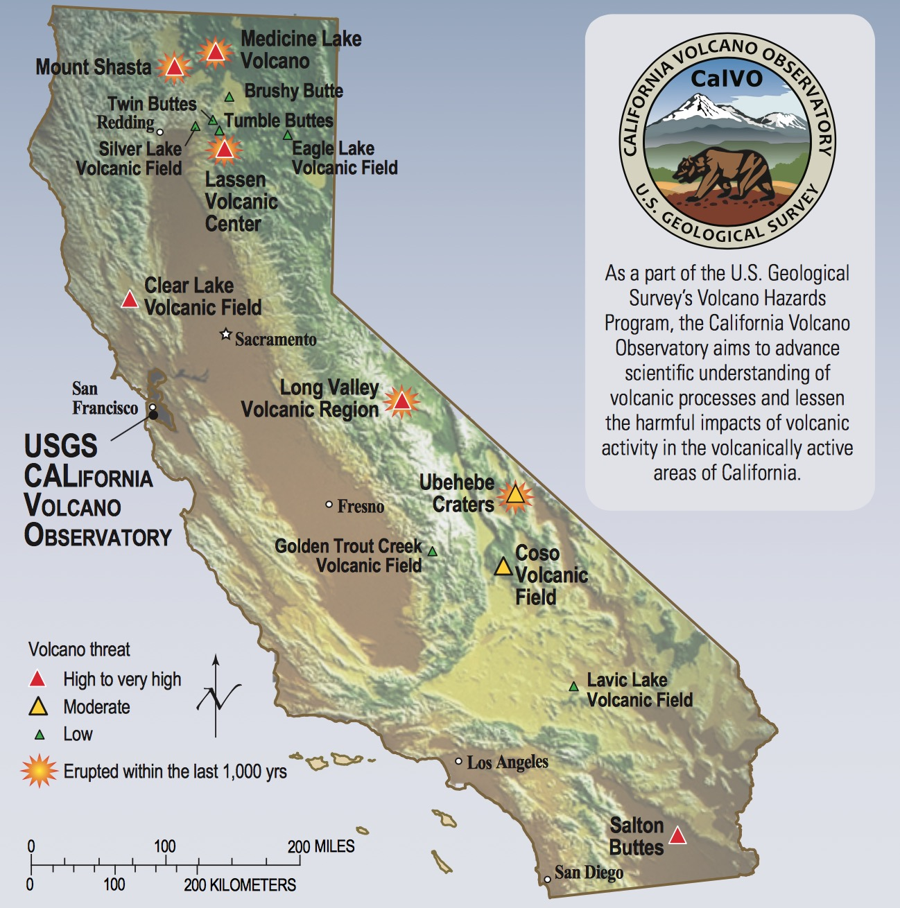 With 8 threatening volcanoes, USGS says California deserves close