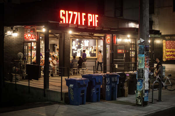 Capitol Hill's Sizzle Pie remains open after bars close for pizza by the slice, at 2:15 a.m. on Wednesday, Aug. 9, 2017.