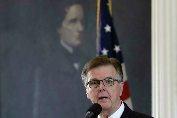 "Texas Lt. Gov. Dan Patrick presides over the senate in Austin, Texas, Tuesday, July 18, 2017. State lawmakers begin a special legislative session Republican Gov. Greg Abbott felt compelled to call in order to tackle conservative priorities that stalled previously, chief among them a ""bathroom bill"" targeting transgender people. (AP Photo/Eric Gay)"