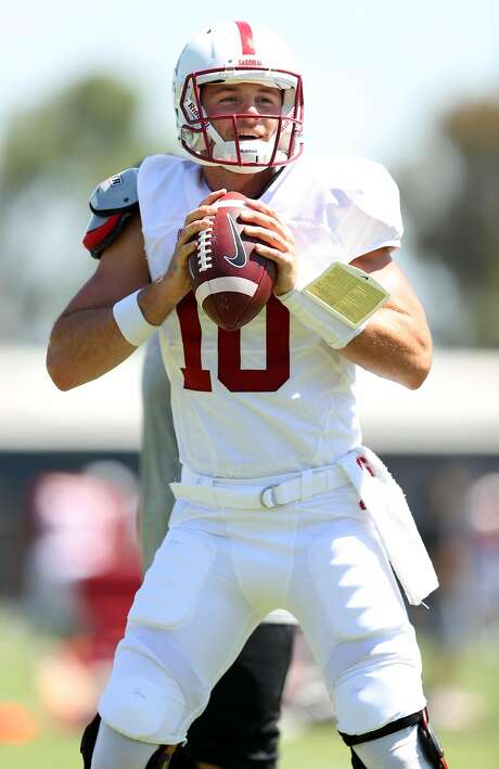 Stanford's Keller Chryst (10) during football practice in Stanford, Calif. on Sunday, August 6, 2017. Photo: Scott Strazzante, The Chronicle